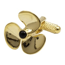 Gold Propellor Cufflinks