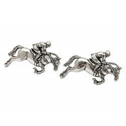 Pewter Jockey on Horseback Cufflinks