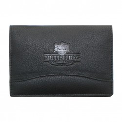 Genuine Black Leather Passport Holder -  by The British Bag Company