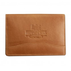 Genuine Tan Leather Passport Holder -  by The British Bag Company