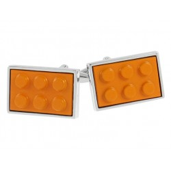 Orange Building Block Cufflinks