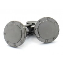 Gunmetal Port Hole Cufflinks