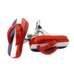 French Flag Flip Flop Cufflinks