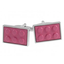 Pink Building Block Cufflinks