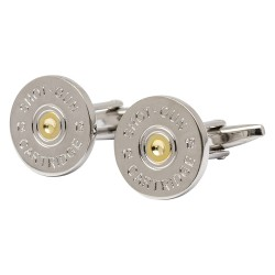 Two Tone Shotgun Cartridge Cap Cufflinks