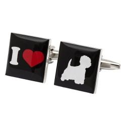 I Love West Highland White Terriers Cufflinks