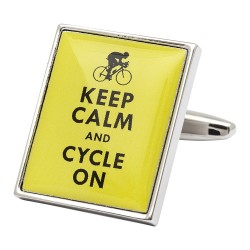 Keep Calm and Cylce On Cufflinks