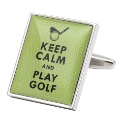 Keep Calm and Play Golf Cufflinks