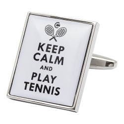 Keep Calm and Play Tennis Cufflinks