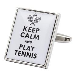 Keep Calm and Play Tennis Cufflinks