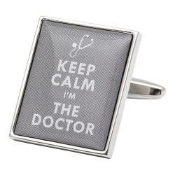 Keep Calm I'm The Doctor Cufflinks