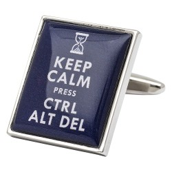 Keep Calm Press Ctrl Alt Del Cufflinks