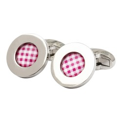 Riley Red Gingham Pattern Cufflinks
