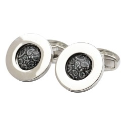 Black Paisley Pattern Cufflinks