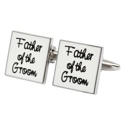 Square White - Father of the Groom Cufflinks