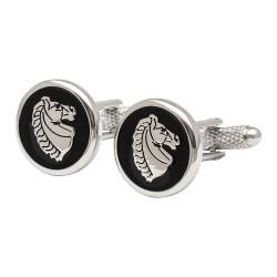 Horse Head Medallion Cufflinks - Animal Cufflinks