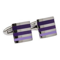 Fredbennett Purple Striped Cufflinks
