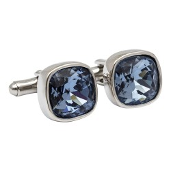 Steel Blue Swarovski Crystal Designer Cufflinks from fredbennett