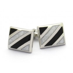 Stenson Striped Cushion Cufflinks