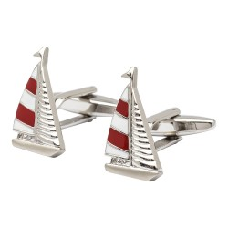 Red Sailing Yacht Cufflinks