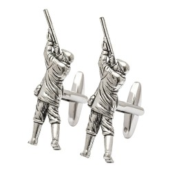Pewter Shooting Huntsman Cufflinks
