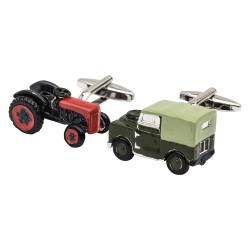 Tractor and Land Rover Cufflinks