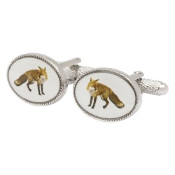 Oval Fox Cufflinks