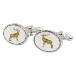Oval Stag Cufflinks