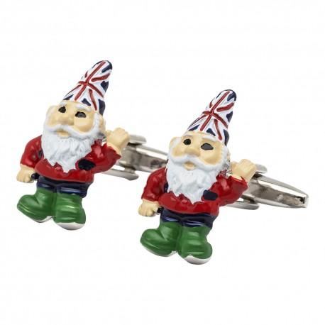 British Garden Gnome Cufflinks
