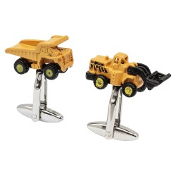 Dumper Truck and Digger Cufflinks