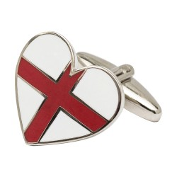 St George Cross Heart Cufflinks