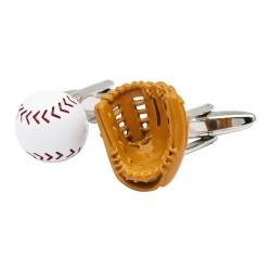 Baseball Glove and Ball Cufflinks