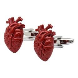 Anatomical Red Heart Cufflinks