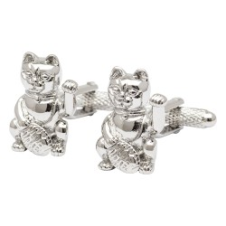 Chinese Lucky Cat Cufflinks