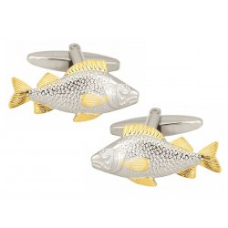 Fine Fish Cufflinks - Gold fins