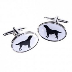 Black Labrador Dog Cufflinks