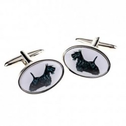 Black Scottie Dog Cufflinks