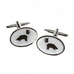 Border Collie Dog Cufflinks