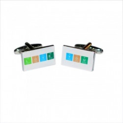 Chemical Table Love You Cufflinks