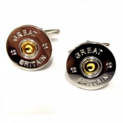 Great Britain Two Tone Shotgun Cartridge Cap Cufflinks
