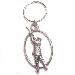 Gamekeeper Pewter Key Ring