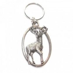 Stag Pewter Key Ring