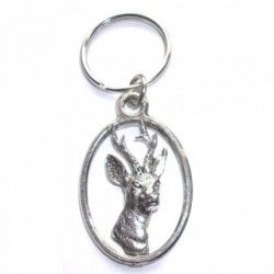 Roe Deer  Pewter Key Ring