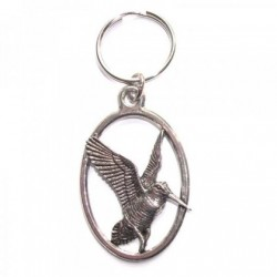 Rising Woodcock Pewter Key Ring