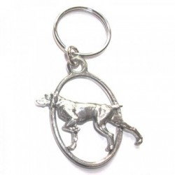 Pointer Dog Pewter Key Ring