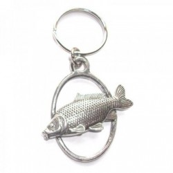 Common Carp Fish Pewter Key Ring