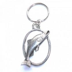 Salmon Fish Pewter Key Ring