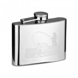 Hip Flask 4oz Fisherman Design