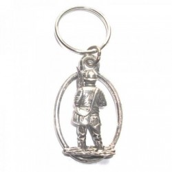 Fisherman Pewter Key Ring