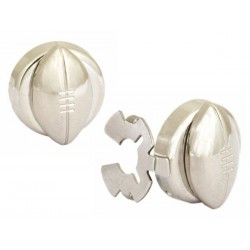 Rugby Ball Button Cover